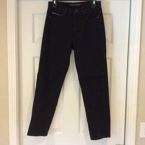 DKNY Straight Leg Black Stretch Jeans Womens Sz 10